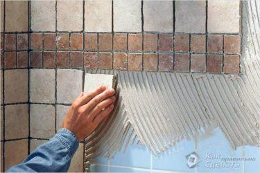 На что можно клеить керамическую плитку?