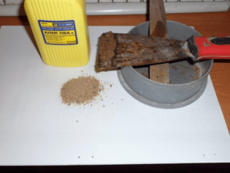 Как сделать шпаклевку из ПВА и опилок?